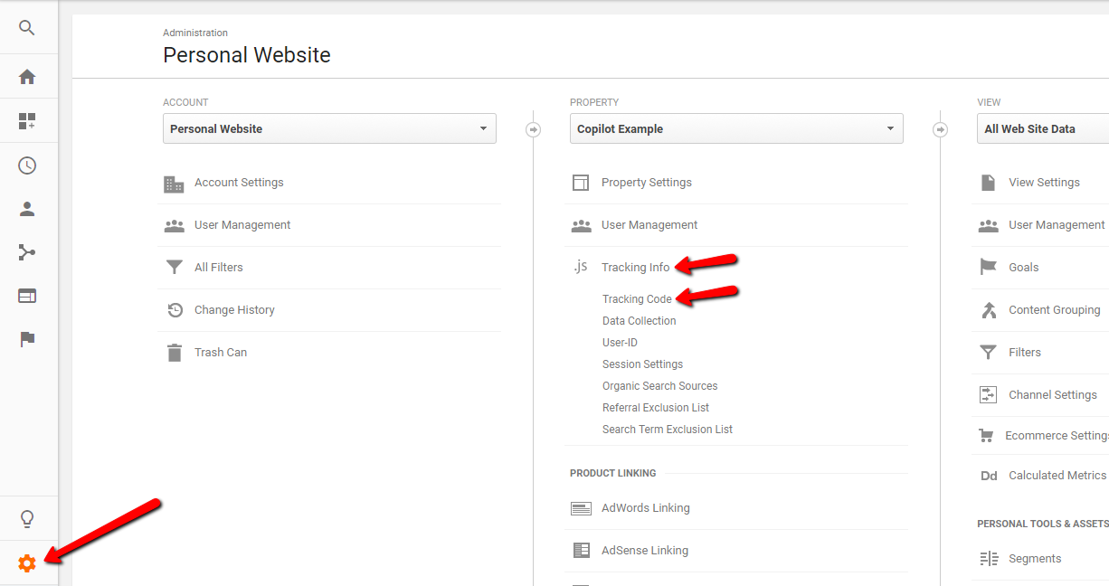 how to find google analytics tracking code