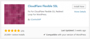 Cloudflare Flexible SSL plugin for WordPress