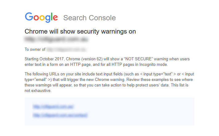 Google warnings prompting WordPress HTTPS migrations
