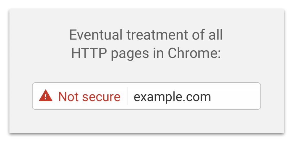 http pages labeled not secure