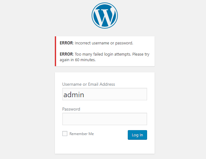 Locked out of WordPress because of too many login attempts