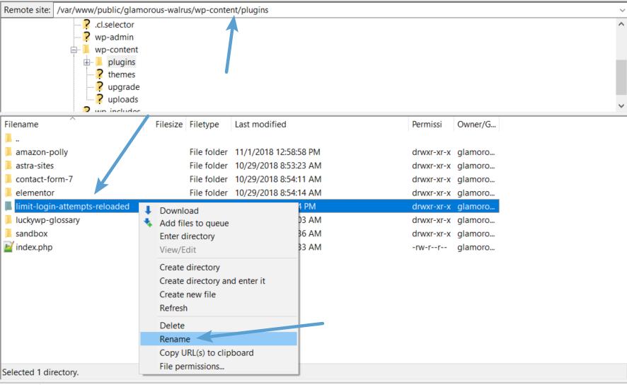 Edit folder with security plugin