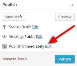 Schedule a WordPress blog post