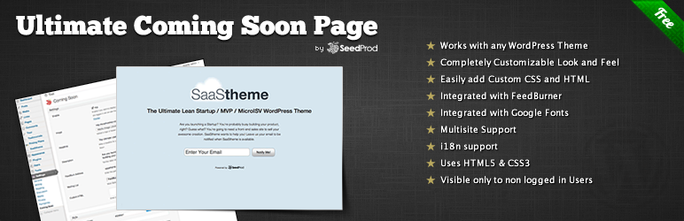Ultimate Coming Soon Page Plugin For WordPress